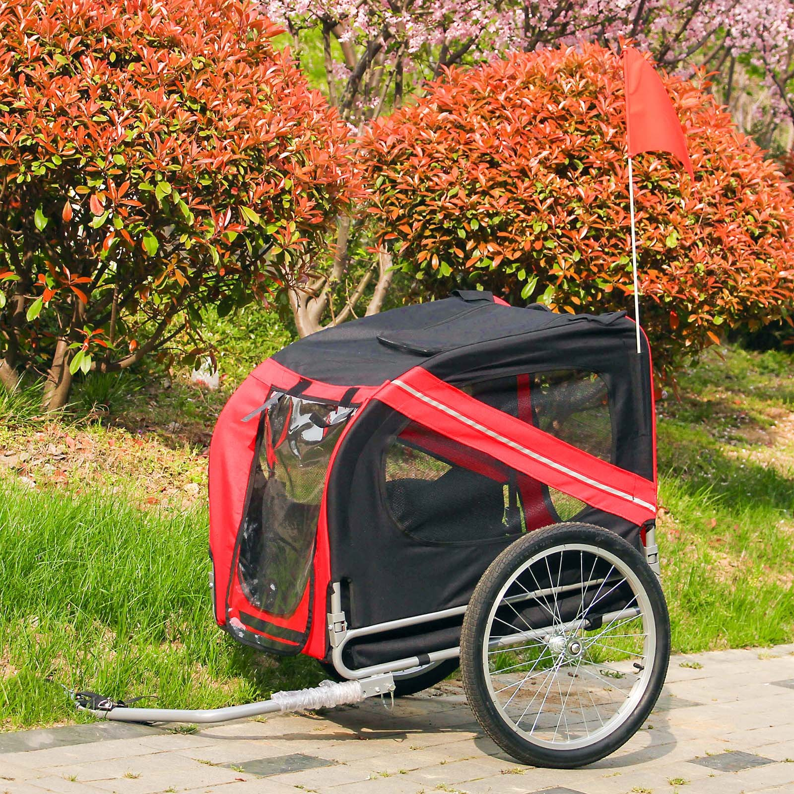 WilTec Remolque Bicicleta Perros Transportín Accesorios Bici ...