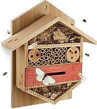 Relaxdays Insectenhotel zeshoekige nesthulp voor bijen, lieveheersbeestje, tuin, balkon, h x b x d: 33,5 x 28,5 x 10 cm, n...