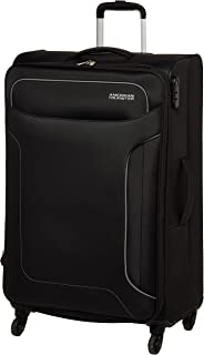 American Tourister Holiday Soft Large Luggage trolley bag Black,80 cm Spinner