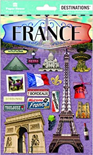 Paper House Productions Travel France 2D Stickers, 3-Pack