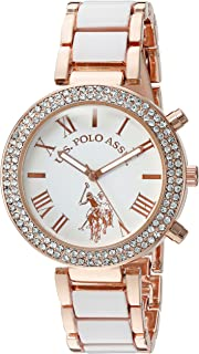 U.S. Polo Assn. Womens Quartz Watch, Analog Display and Stainless Steel Strap USC40091