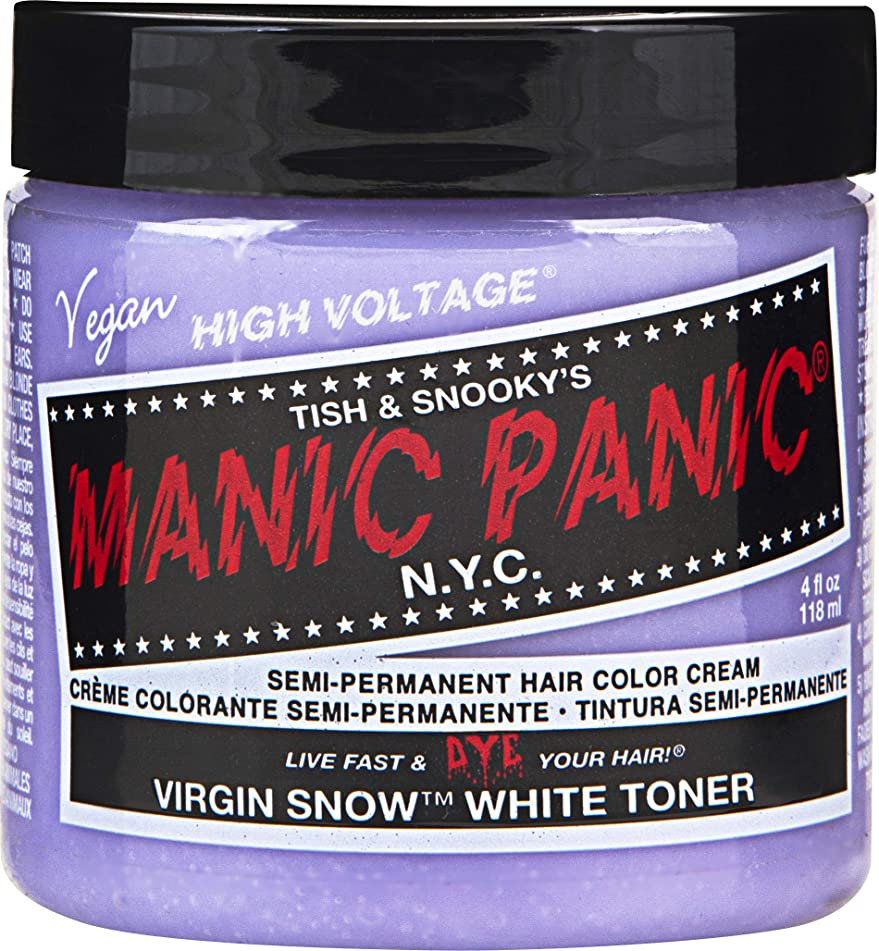 Manic Panic Semi-Permanent Hair Color Cream 4 Ounce (Virgin Snow)