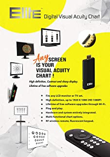 Ophthalmic Elite Optical Digital Visual Acuity Chart Eye Vision Test Software/w 2.4G RF Remote