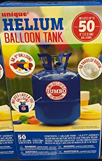 unique Helium Tank Kit For Birthday Party, Includes 50 Balloons & Ribbons