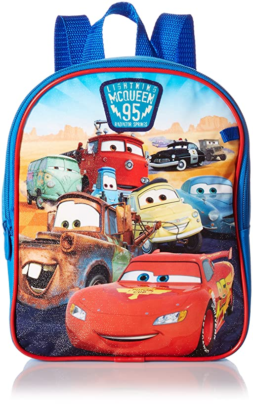 Disney Boys' Cars Mini Backpack with Utility Case, Blue