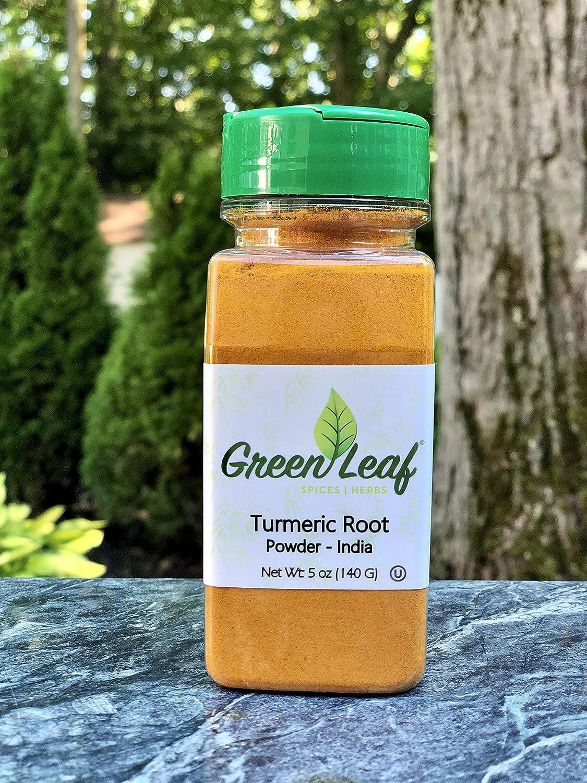 GreenLeaf Turmeric Root Powder 100% High Over item handling Max 87% OFF Natural Raw Curcu