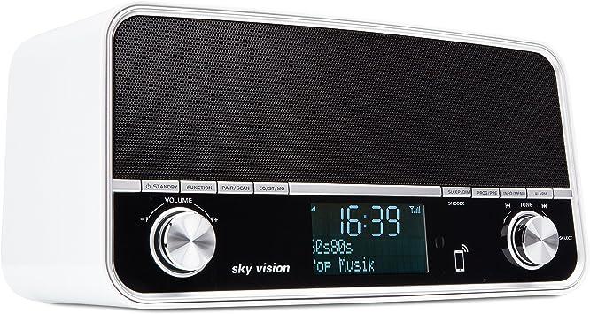 Sky Vision Dab Radio 50 S Retro Digital Radio Mit Bluetooth Lautsprecher Digitales Radio Mit Dab Plus Usb Ladegerät Dab Radiowecker Fm Ukw Tuner Schwarz Heimkino Tv Video