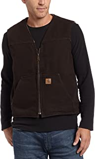 Men's Sherpa Lined Sandstone Rugged Vest V26