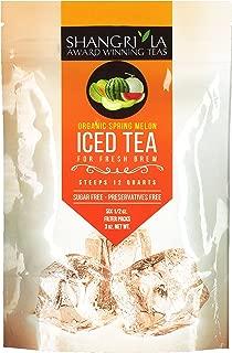 Shangri La Tea Company Iced Tea, Organic Spring Melon Green Tea, Bag of 6, 1/2 oz Pouches