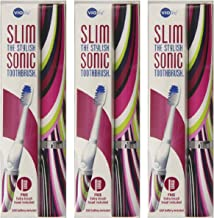 Violife Slim Sonic Toothbrush, Mirage, (Pack of 3)