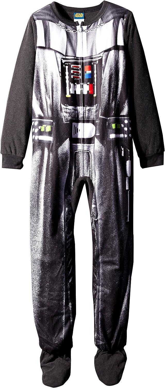 Star Wars Big Boys' Darth Vader Uniform Hooded Blanket Sleeper ,  Black