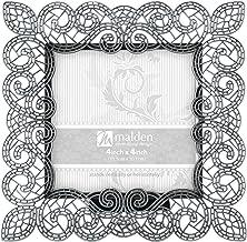 إطار صور معدني سابيلا من شركة مالدن إنترناشيونال ديزاينز، 10.16 سم × 10.16 سم، فضي
