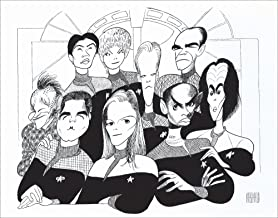 Al Hirschfeld's STAR TREK: VOYAGER Hand Signed Limited Edition Lithograph