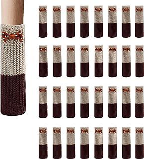 Calcetines para Silla Elásticos para Mesa Muebles, 32 Unidades Calcetines de la Pierna de Punto Protectores Antideslizantes para Pisos Cubierta para Anti Scratch