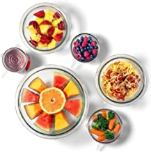 The Absolute Kitchen Premium Silicone Stretch Lids-Stretchable, Reusable, and Convenient Food Covers Ensures Freshness – Expandable For Various Size Sized Cups, Lids, and Bowls (6 Pack-Clear)