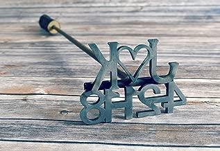 Custom Date Brander with Heart and Initials - Wedding, anniversary gift
