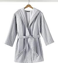Splendid Home Laguna Stripe Robe, One Size, White/Navy