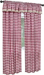 Achim Home Furnishings, Taupe & Ivory Ahcim Home Furnishings Buffalo Check Window Curtain Valance, 58