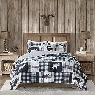 Woolrich Quilt Set, Full/Queen, Sweetwater Black/Grey