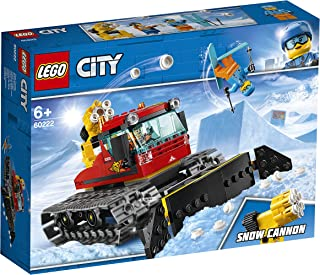 LEGO 60222 City Great Vehicles Snow Groomer with Plough Tracked Toy, Winter Holiday Sets for Kids