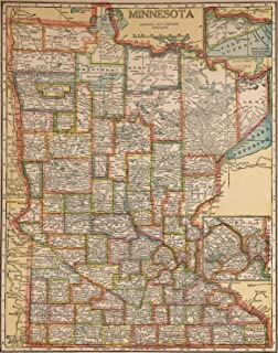 minnesota map poster