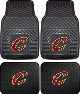 A Set of 4 NBA Universal Fit Front and Rear All-Weather Floor Mats - Cleveland Cavaliers