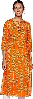 Amazon Brand - Tavasya Women's Block Print Regular Fit Kurti