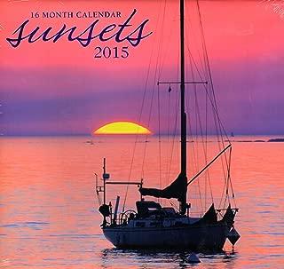 Sansets - 2015 16 Month Calendar + Free Bonus 2015 Magnetic Calendar
