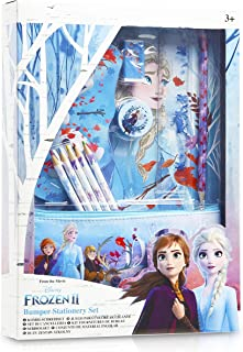 Disney Frozen 2 skrivbordsset för flickor med Anna Elsa pennfodral A4 anteckningsbok, färgpennor för barn, anteckningsbloc...