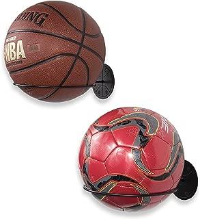Wallniture Sporta Wall Mount Sports Ball Holder Display Storage Steel Black Set of 2