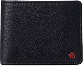 Alpine Swiss RFID Protected Mens Spencer Flip ID Leather Bifold Wallet Comes in Gift Box