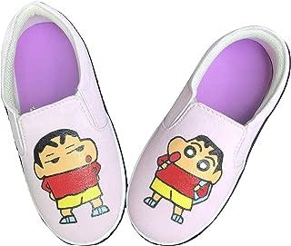 FUNKY N TRENDY Shin Chan Hand Painted Waterproof Kids Canvas Shoes