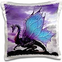 3dRose pc_4145_1 Fairytale Dragon-Pillow Case, 16 by 16