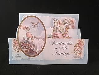Party Supplies Mi Bautizo Celebracion, Hermosas Invitaciones Azules para Niño/Niña. My Baptism Invitation Cards (12 pcs)