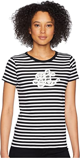 LAUREN Ralph Lauren Monogram Striped T-Shirt