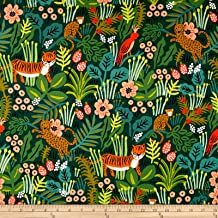 Cotton + Steel Rifle Paper Co. Menagerie Canvas Jungle Hunter Fabric by The Yard