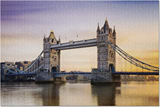 London, England - Tower Bridge at Sunset 9035720 (20x30 Premium 1000 Piece Jigsaw Puzzle, Made in USA!)