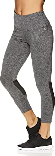 HEAD Women's High Waisted Capri Leggings - Crop Activewear Yoga & Running Pants