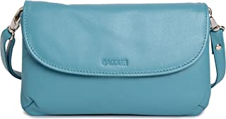 Saddler Womens Leather Slim Crossbody Clutch Bag