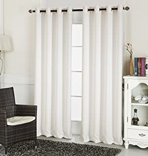 RT Designers Collection Layne Textured 54 x 90 in. Grommet Curtain Panel, White