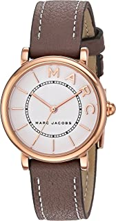 Marc By Marc Jacobs Roxy White Dial Leather Band Watch - Mj1538,