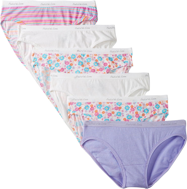 Fruit of the Loom Women's 6-Pack Cotton Bikini Panties