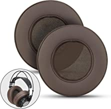 Brainwavz XL Large Replacement Memory Foam Earpads - Suitable for Many Other Large Over The Ear Headphones - Sennheiser, AKG, HifiMan, ATH, Philips, Fostex, Sony (Brown)