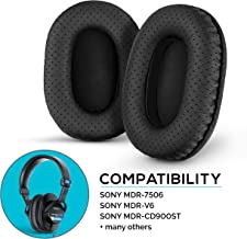 Brainwavz Perforated Earpads for Sony MDR 7506 - V6 - CD900ST with Memory Foam Ear Pad & Suitable for Other On Ear Headphones