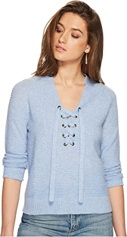 Lucky Brand - Lace-Up Sweater