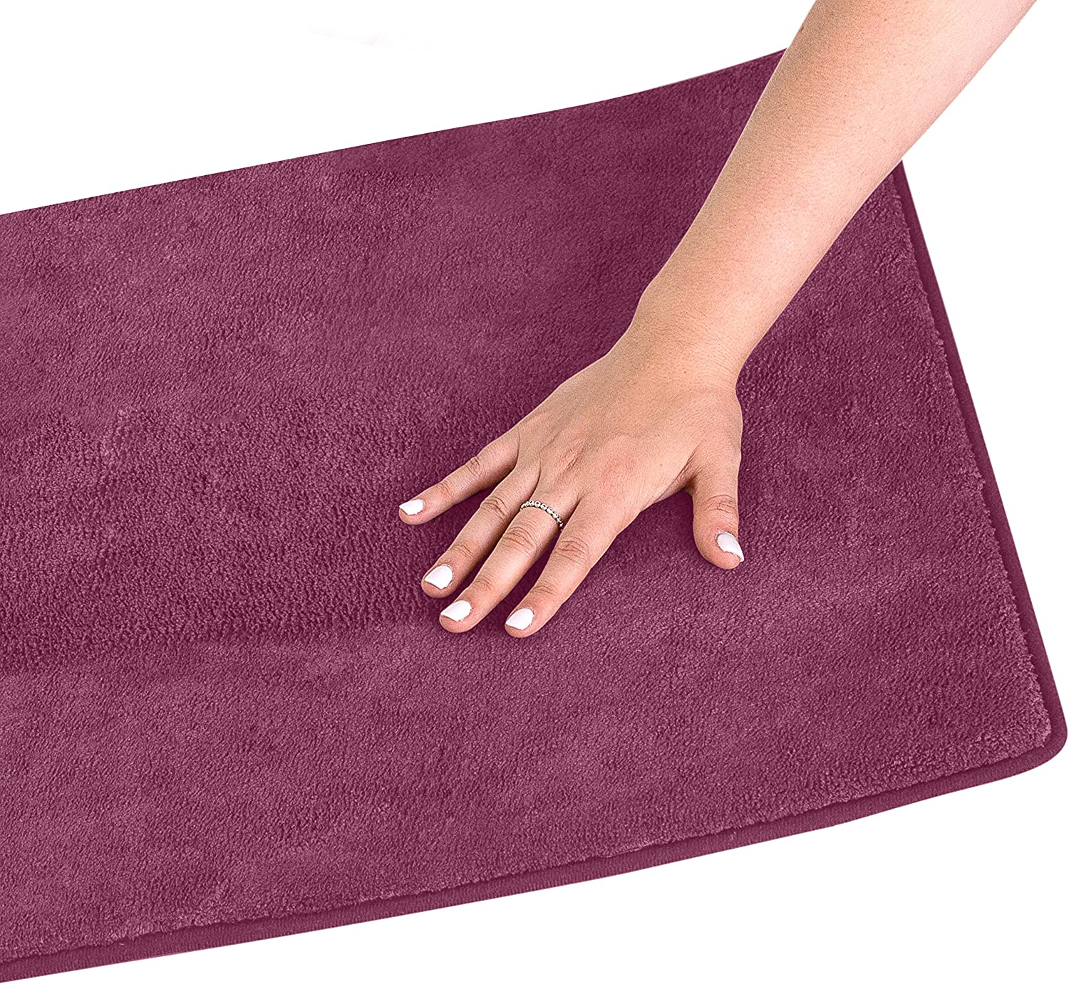 Amazon Com Simple Deluxe Plum Purple Bath Or Kitchen Mat Memory Foam Rug Non Slip Backing Washable Absorbent Alfombras Para Banos Home Kitchen