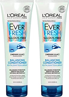L'Oreal Paris Hair Care Ever Fresh Balancing Conditioner Sulfate Free, 2 Count