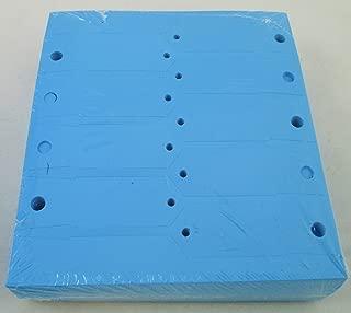BLUE Self-Locking Arrow Key Tags (1,000 per pack) Size 4 1/2