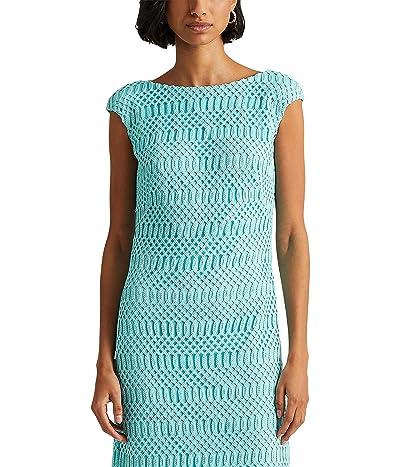 LAUREN Ralph Lauren Lattice Lace Cap-Sleeve Dress