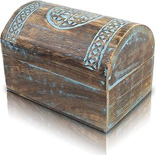 Great Birthday Gift Ideas Handmade Decorative Wooden Jewelry Box With Celtic Carving Jewelry Organizer Keepsake Box Treasu...